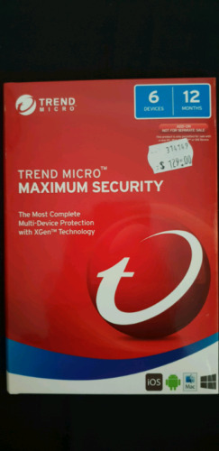 TREND MICROtm MAXIMUM SECURITY FOR 6 DEVICES