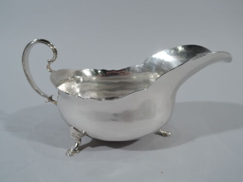 Georgian Gravy Boat - Antique Sauce Sauceboat - English Sterling Silver  1770