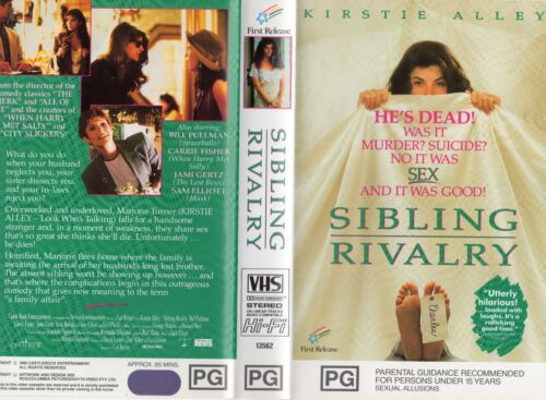 SIBLING RIVALRY - Kirstie Alley  -VHS -PAL-NEW-Never played!-Original Oz release