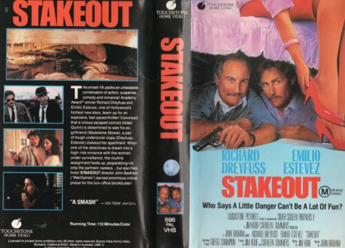 STAKEOUT - Dreyfuss Estevez - VHS -PAL -NEW -Never played! -Original Oz release