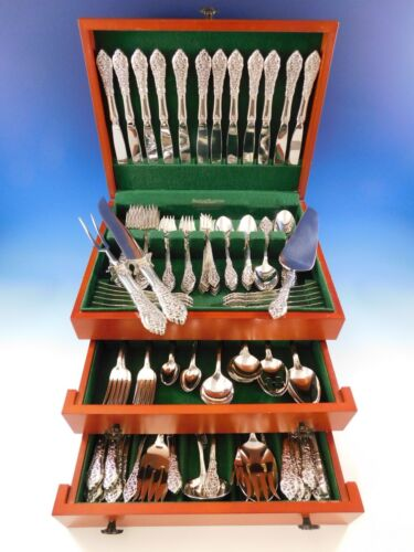 Florentine Lace by Reed & Barton Sterling Silver Flatware Set Service 140 Pieces
