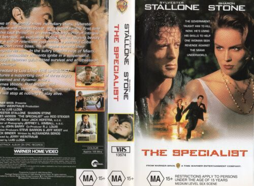 THE SPECIALIST - Stallone - VHS - PAL -NEW - Never played! - Original Oz release