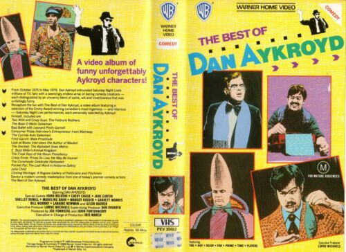 THE BEST OF DAN AYKROYD - VHS - PAL - NEW - Never played! - Original Oz release