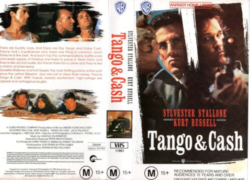 TANGO & CASH - Stallone & Russell -VHS-PAL-NEW-Never played!-Original Oz release