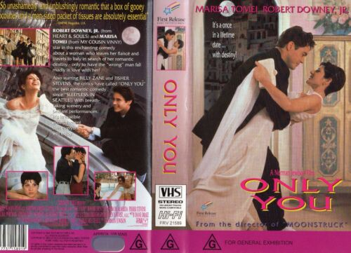 ONLY YOU - Robert Downey Jr-VHS - PAL -NEW - Never played! - Original Oz release