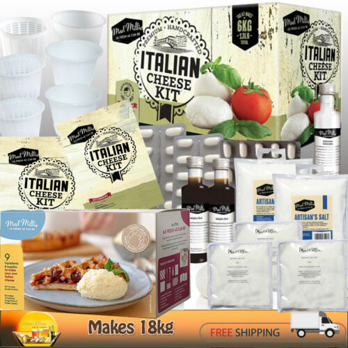 CHEESE MAKING [ITALIAN] KIT + REFILLS ~MAKES 18kg~ by MAD MILLIE   BEGINNERS