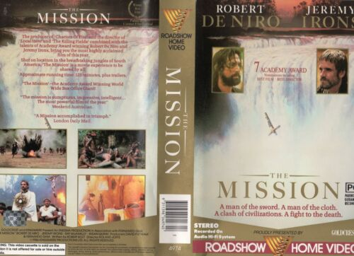 THE MISSION - Robert DeNiro -VHS - PAL -NEW - Never played! -Original Oz release