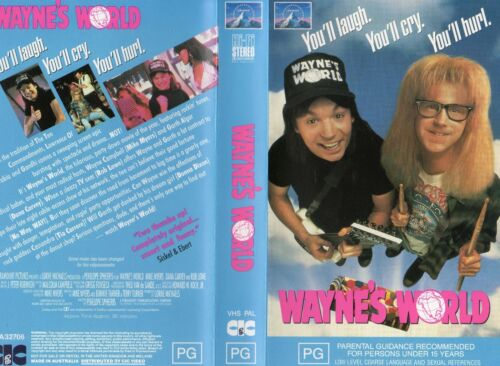 WAYNE'S WORLD - Mike Myers -VHS - PAL -NEW - Never played! - Original Oz release