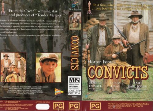 CONVICTS - Robert Duvall - VHS - PAL - NEW - Never played! - Original Oz release