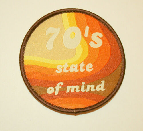 Vintage Looking 70's State Of Mind Mod Retro Patch New NOS