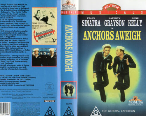 ANCHORS AWEIGH-Sinatra & Kelly- VHS-PAL-NEW & SEALED-Never played! - VERY RARE!!