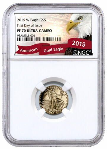 2019W 1/10 oz Gold American Eagle Proof $5 NGC PF70 UC FDI Exclusive SKU57496 <br/> Buy With Confidence from ModernCoinMart (MCM) on ebay