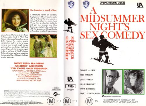A MIDSUMMER NIGHT'S SEX COMEDY -VHS - PAL -NEW-Never played!-Original Oz release