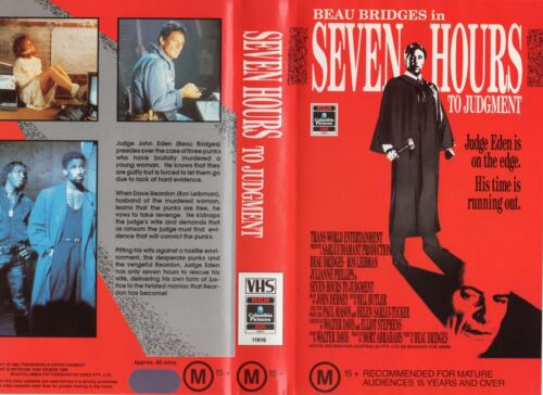 SEVEN HOURS TO JUDGMENT - VHS - PAL - NEW - Never played! - Original Oz release