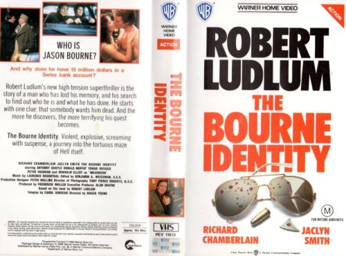 THE BOURNE IDENTITY -Chamberlain -VHS-PAL-NEW-Never played!-Original Oz release
