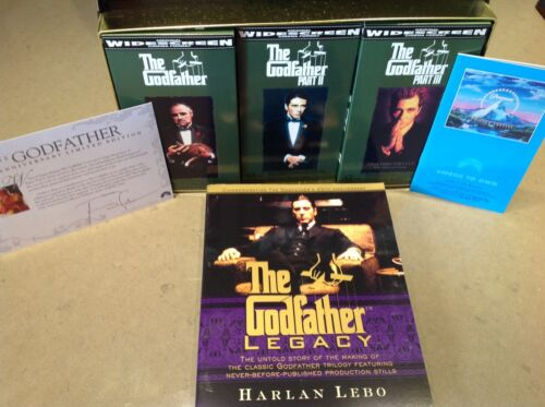 THE GODFATHER Collection 25th Anniversary box set- 3 xVHS-PAL-NEW-Never played!!