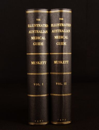 1903 2vol The Illustrated Australian Medical Guide Muskett Souter Very Scarce