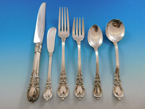 American Victorian by Lunt Sterling Silver Flatware Set for 8 Service 59 pieces