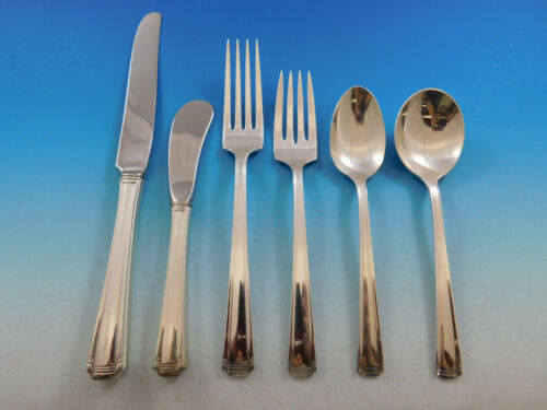 John and Priscilla by Westmorland Sterling Silver Flatware Set 12 Service 78 pcs
