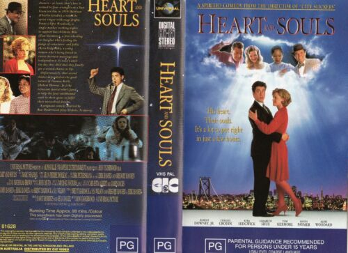 HEART AND SOULS-Robert Downey J   -VHS-PAL-NEW-Never played!-Original Oz release