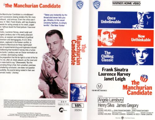 THE MANCHURIAN CANDIDATE - VHS - PAL - NEW - Never played! - Original Oz release