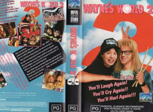 WAYNE'S WORLD 2 - VHS - PAL - NEW & SEALED - Never played! - Original Oz release