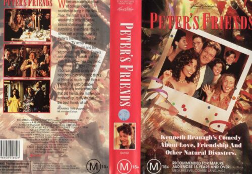 PETER'S FRIENDS - Branagh - VHS - PAL -NEW - Never played! - Original Oz release