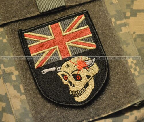 AUSSIE SKULL INSIGNIA ALLIED COALITION JSOC ISAF OPERATOR SP OP SAS VeIcrọ FLAG