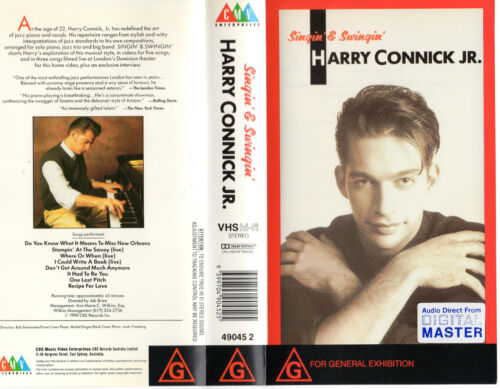 SINGIN' & SWINGIN' - HARRY CONNICK JR. - VHS - PAL - NEW - Never played!! - Rare