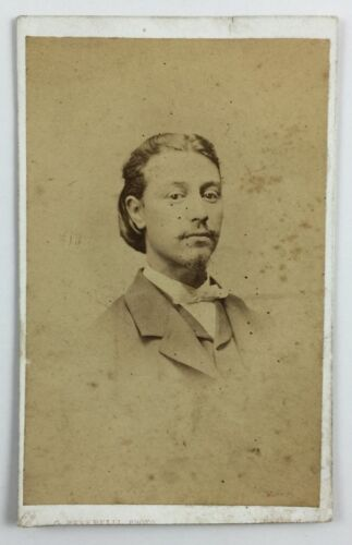 CDV Photograph of Handsome Young Man With Moustache by G Peverelli Liverpool UK