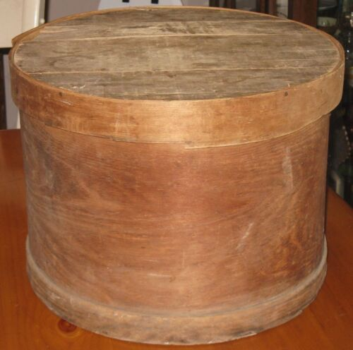 ~Large Antique Primitive Wood Cheese Cupboard Pantry Box~