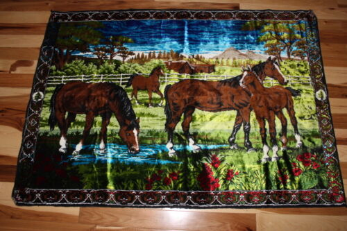 """Beautiful very bright colors Horse tapestry 40"""" x 57"""""""