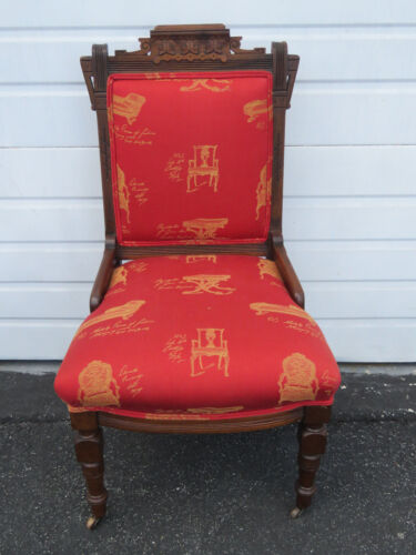 Victorian Eastlake Carved Side Living Bed Room Side Chair 9483