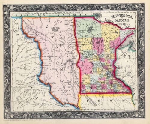 110 maps of North South DAKOTA state PANORAMIC old genealogy HISTORY atlas DVD