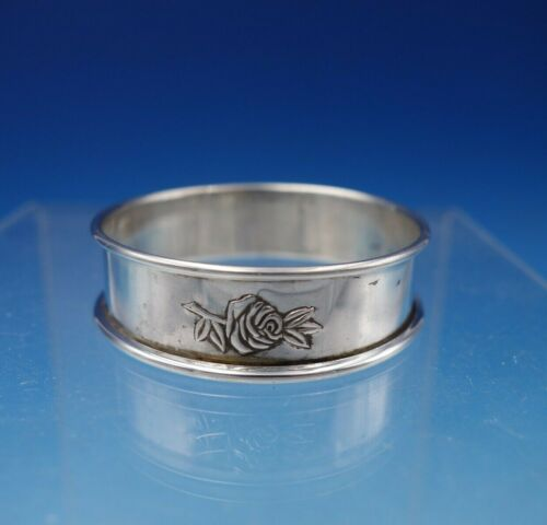 """Classic Rose by Reed and Barton Sterling Silver Napkin Ring Orig 1 3/4"""" x 1/2"""""""