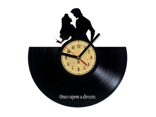 Vinyl record wall clock, Sleeping Beauty design bedroom playroom office home art