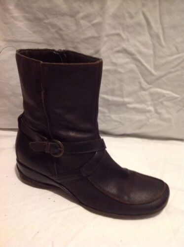 Next Brown Ankle Leather Boots Size 6