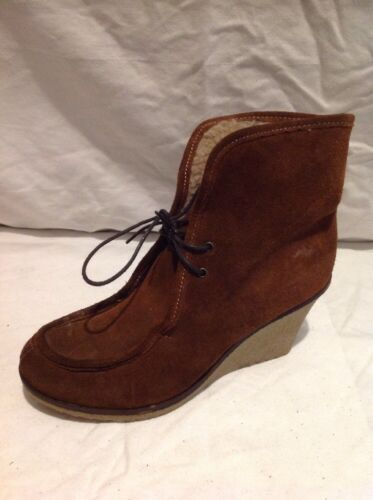 Next Brown Ankle Suede Boots Size 39