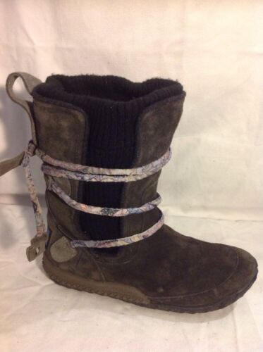 Cushe De Luxe Brown Ankle Leather Boots Size 3
