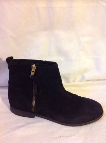 Next Black Ankle Suede Boots Size 3
