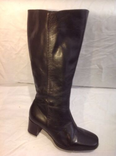 Easy Spirit Brown Mid Calf Leather Boots Size 6