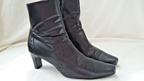 WOMENS LEATHER ANKLE BOOTS UK 5  PREDICTIONS US 7