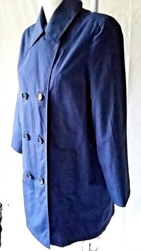 WOMENS RAINCOAT DOUBLE BREASTED SIZE 14 SEARS