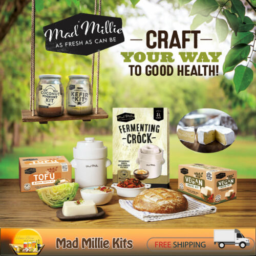 MAD MILLIE HANDCRAFTED KITS ~ CHEESE   YOGHURT   BUTTER   FERMENTING   SOURDOUGH