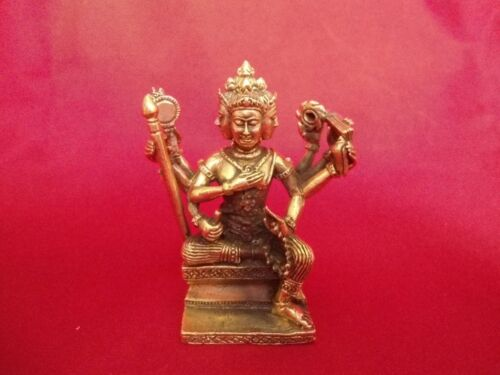 BRAHMA THE GOD OF CREATIVE POWER THAI AMULET  BRONZE STATUE  BIG SIZE