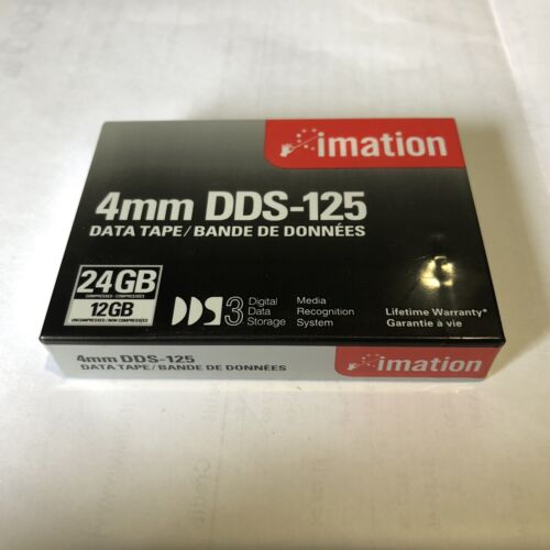 imation 4mm DDS-125 Data Tape 24GB Compressed 12GB Uncompressed