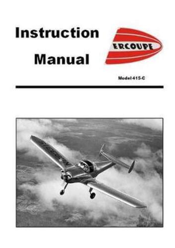Ercoupe Instruction Manual by Engineering Paperback Book Free Shipping!