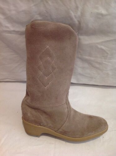 DB Brown Mid Calf Suede Boots Size 6