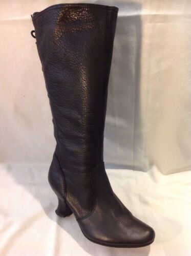 Ravel Black Mid Calf Leather Boots Size 36