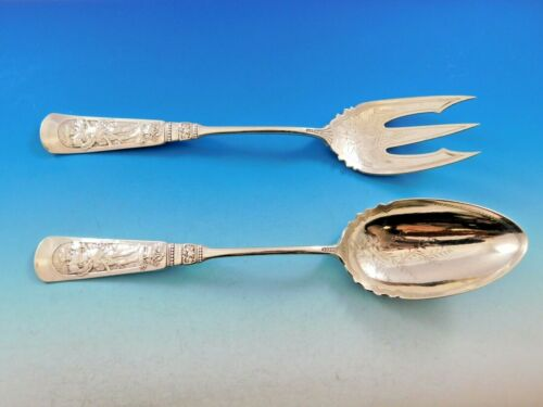Fontainebleau by Gorham Sterling Silver Salad Serving Set Brite Cut 10 1/2""